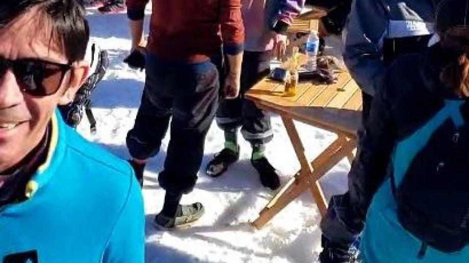 Captura de uno de los videos que se difundió sobre la situación de Chapelco.