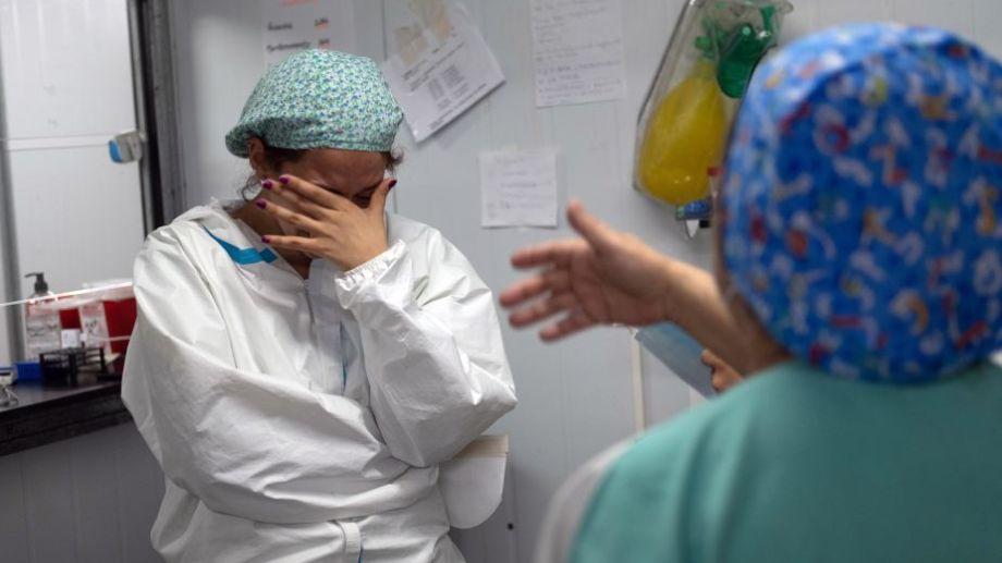 Buenos aires. Hospital Modular Quilmes covid-19 coronavirus. Foto: Carlos Brigro.-