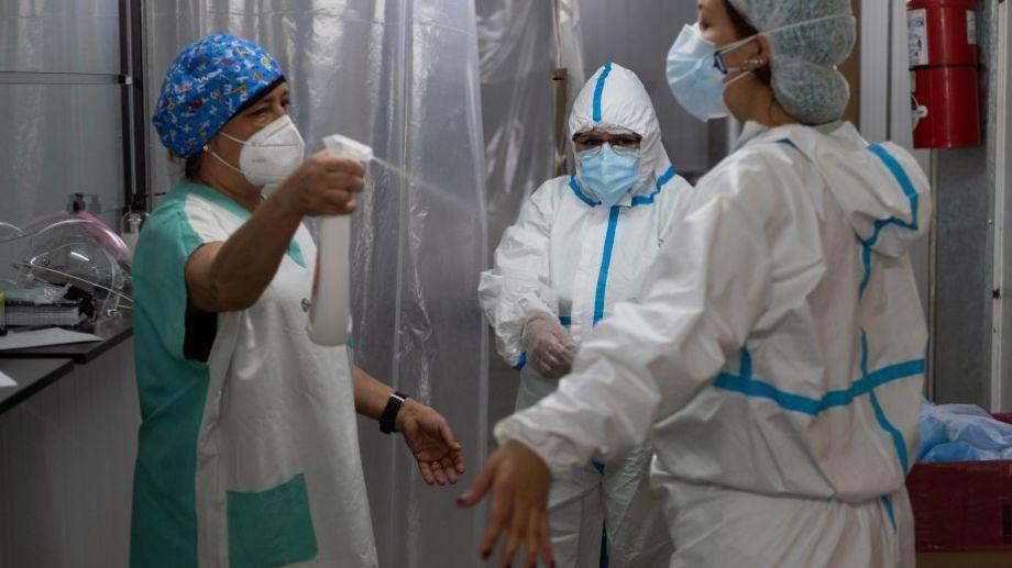 Buenos Aires.  Hospital modular de Quilmes. Foto: Carlos Brigo para Télam.-