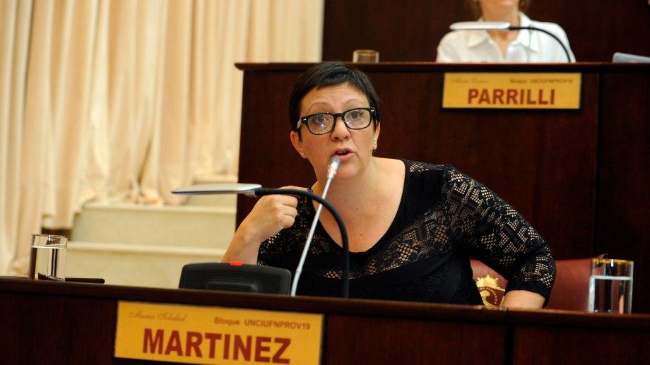 La diputada del Frente de Todos, Soledad Martínez, aseguró que su espacio no tiene que definirse en base a la interna del MPN. (Gentileza).-