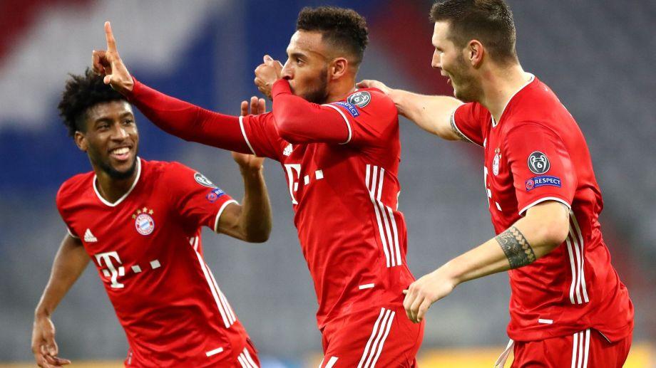 Tolisso festeja su golazo, tercero del Bayern al Atlético en Múnich. (Foto: AP)