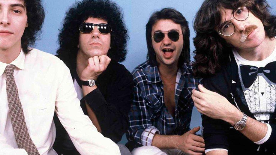 Los Serú en modo 1980. Pedro Aznar, Oscar Moro, David Lebón y Charly García.