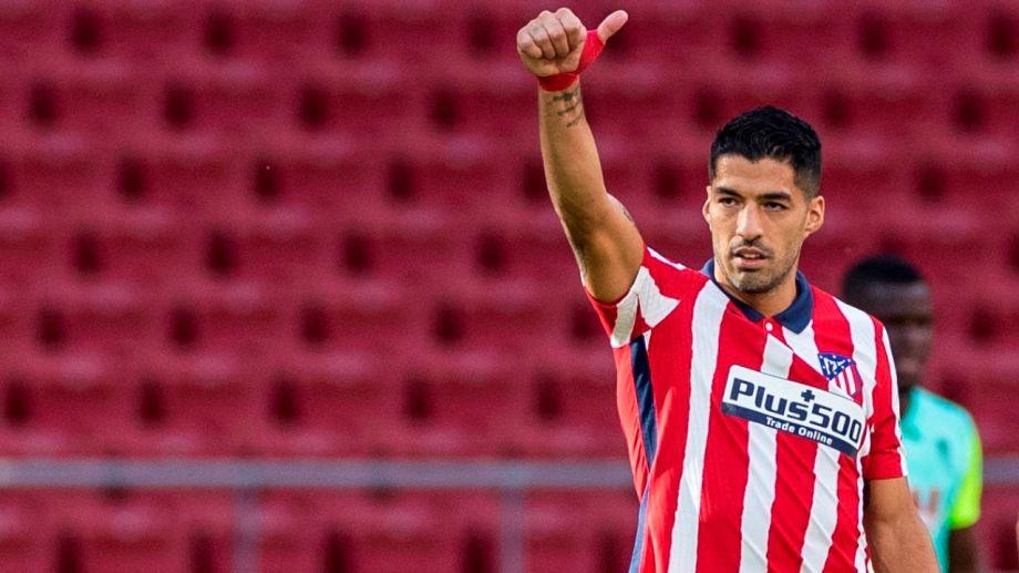 Luis Suárez debuta en la Champions con la camiseta del Atlético Madrid.