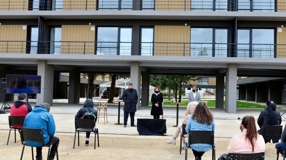 En octubre pasado se comenzaron a entregar los departamentos del primer complejo del Procrear en Bariloche. Archivo