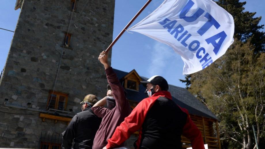 Mañana será la décima jornada de paro de transporte en Bariloche. Foto: archivo