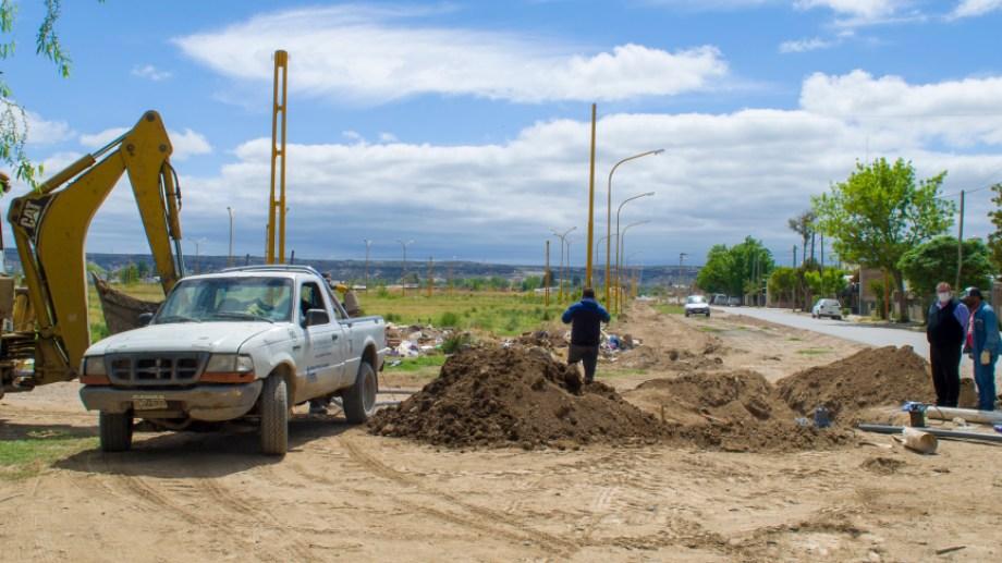 Con la instalación de una bomba, loteos de la zona sur de regina podrán conectarse a la red cloacal. (Foto gentileza)