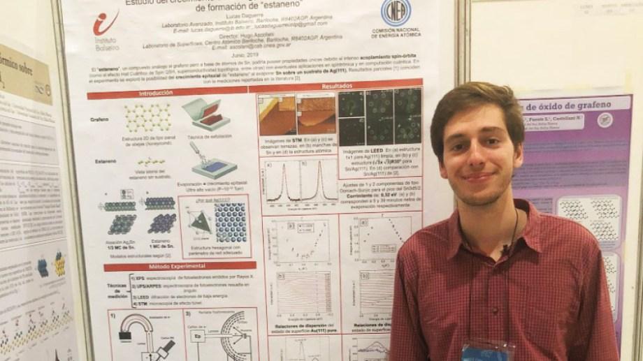 Lucas Daguerre es de La Plata y cursa en el Instituto Balseiro su maestría en Ciencias Físicas. Foto: Gentileza