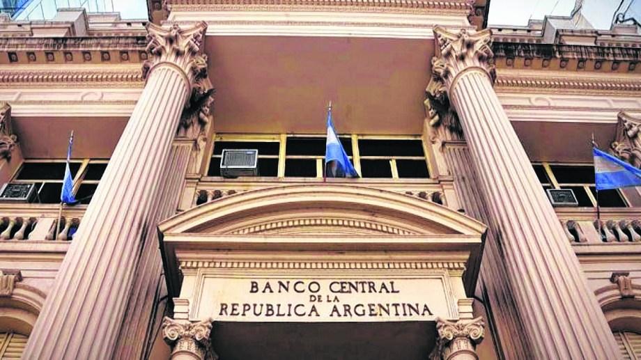 Sede del Banco Central, en la city porteña.