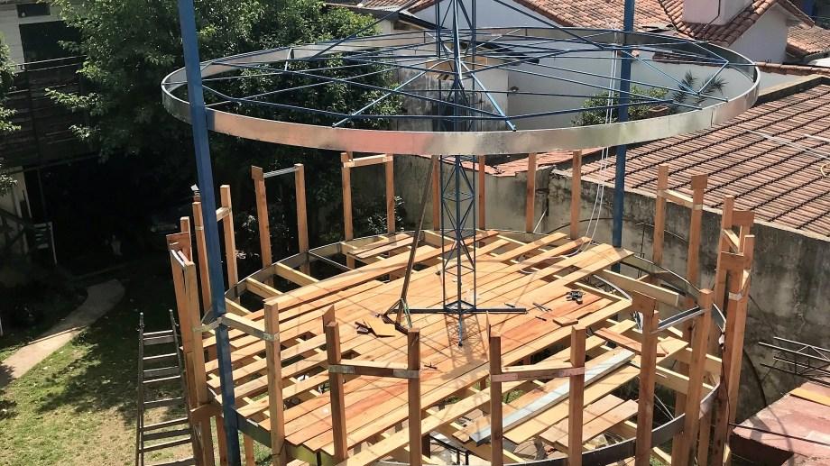 Actaulmente se está construyendo en un taller de Tango Winds y luego será transladado a Bahía Creek. (Foto: gentileza)