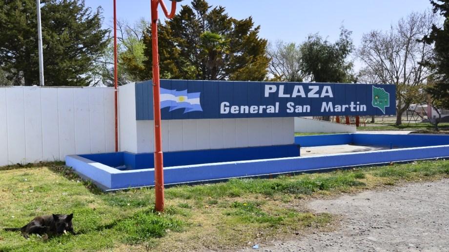 La plaza San Martín será remodelada con fondos de Nación. (Foto Néstor Salas)