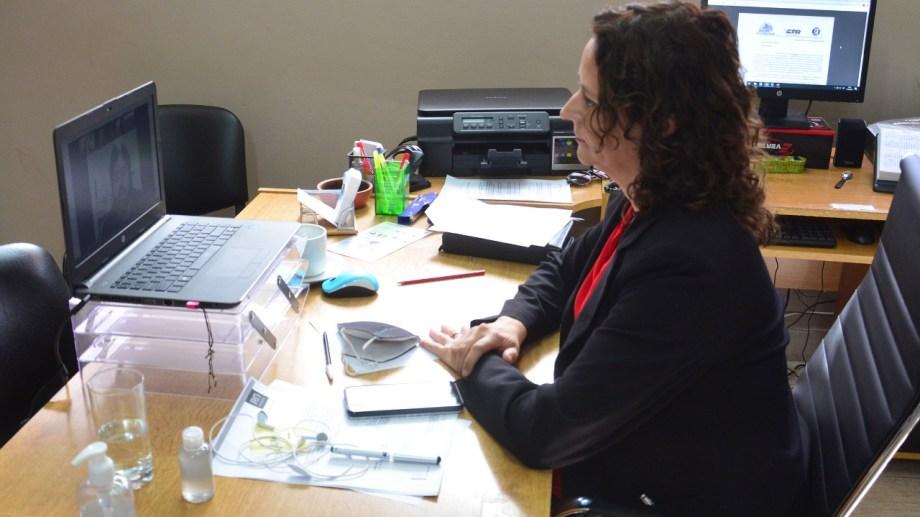 La paritaria virtual fue presidida por la subsecretaría de Fiscalización y Multas, Judith Witkin.
