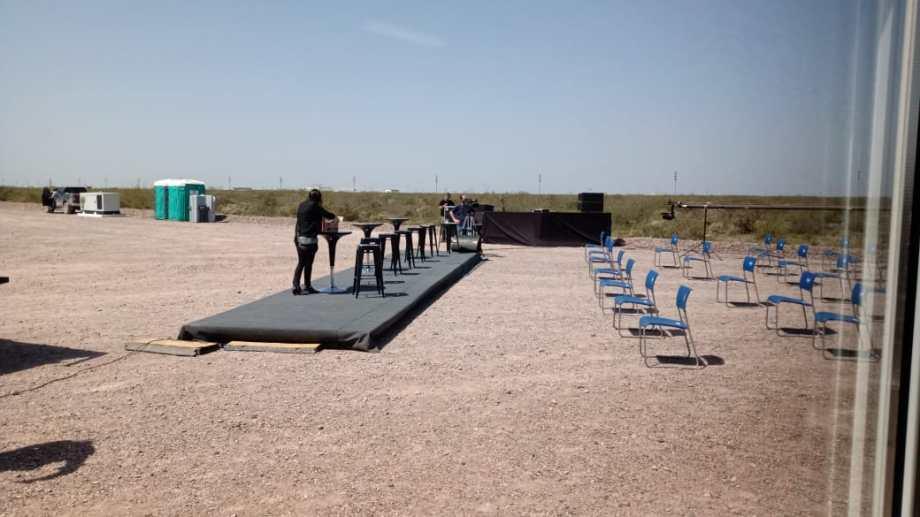 Escenario expectante como la última visita del Presidente Alberto Fernández a Loma Campana que explotan YPF y Chevron.