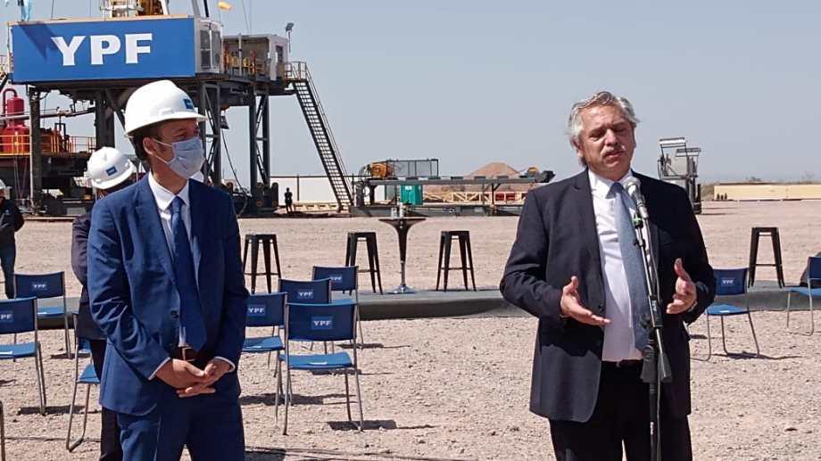 Gutiérrez y Fernández, en la última visita presidencial a la región.