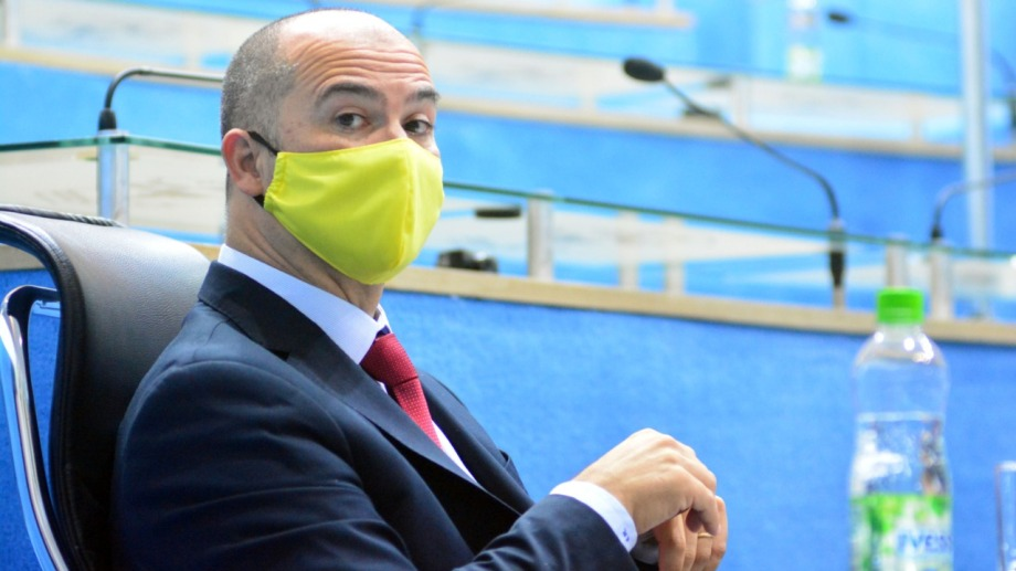 """El legislador Martin aludió que """"con estas medidas lo que buscamos es desalentar las tomas"""". Foto: Marcelo Ochoa"""