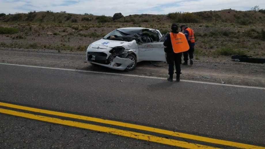 Uno de los vehículos involucrados en el accidente.  Foto: Gentileza