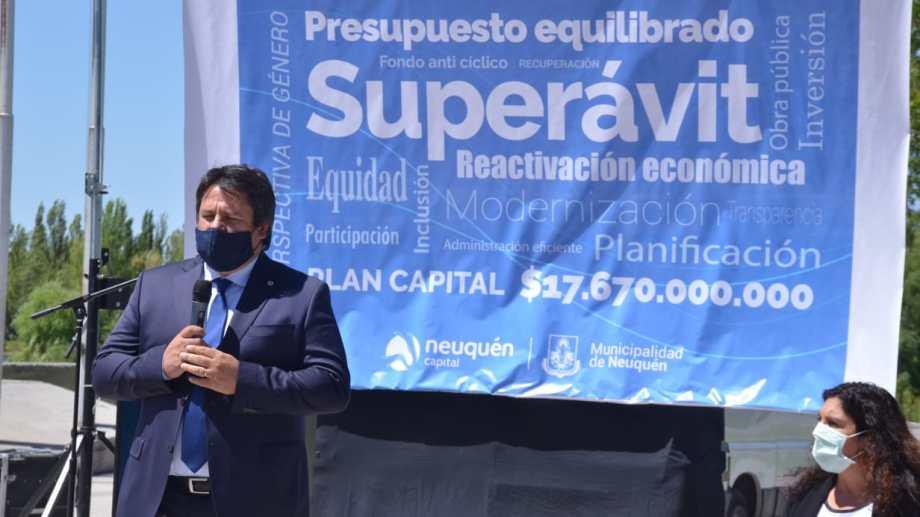 Mariano Gaido presentó los numeros para el año que viene en la isla 132 (foto Yamil Regules)