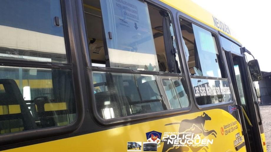 Un hombre y una mujer fueron detenidos tras romper los vidrios de un colectivo y agredir a al chofer de la unidad, en Neuquén. (Foto: Gentileza).