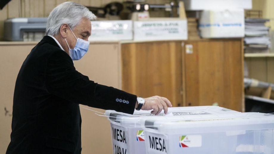 Chile: El presidente chileno, Sebastián Piñera, votó esta mañana.  Foto: AFP.