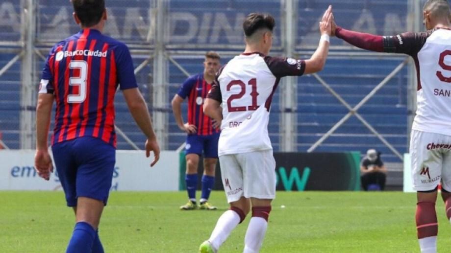 San Lorenzo cayó con Lanús por 4 a 1 en el Nuevo Gasómetro. Foto: Prensa Lanús