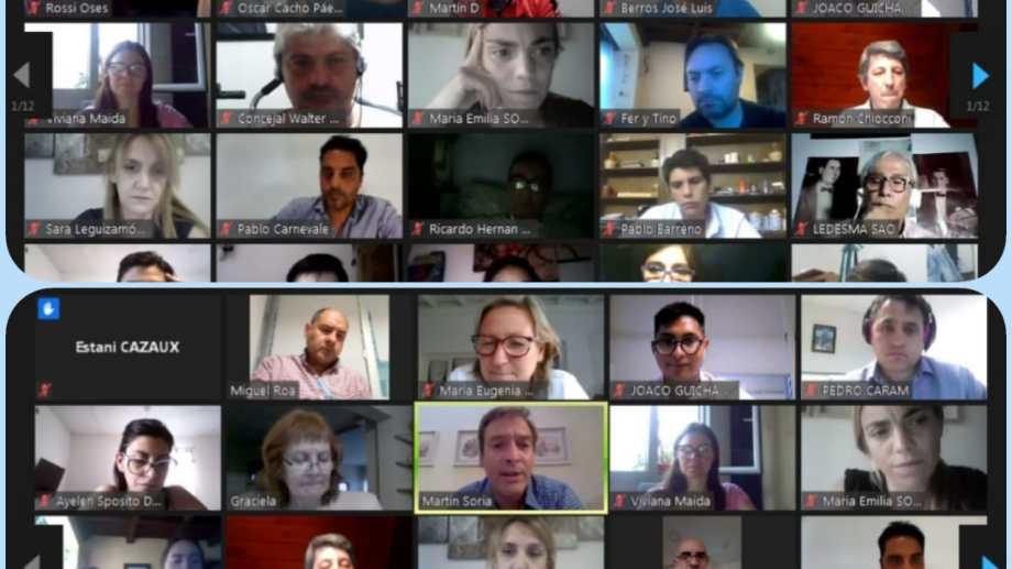 El encuentro virtual conectó a unos 400 dirigentes y militantes del peronismo rionegrino. Foto: Gentileza