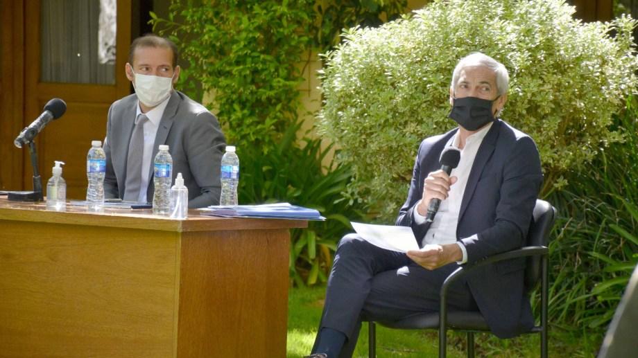 El gobernador Omar Gutiérrez encomendó las negociaciones al ministro de Economía, Guillermo Pons (Foto: archivo Yamil Regules)