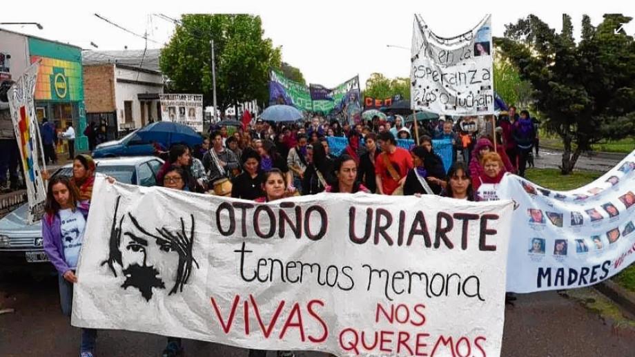 Una vez más la comunidad marchará contra la impunidad del caso Otoño Uriarte en Fernández Oro. (Archivo)
