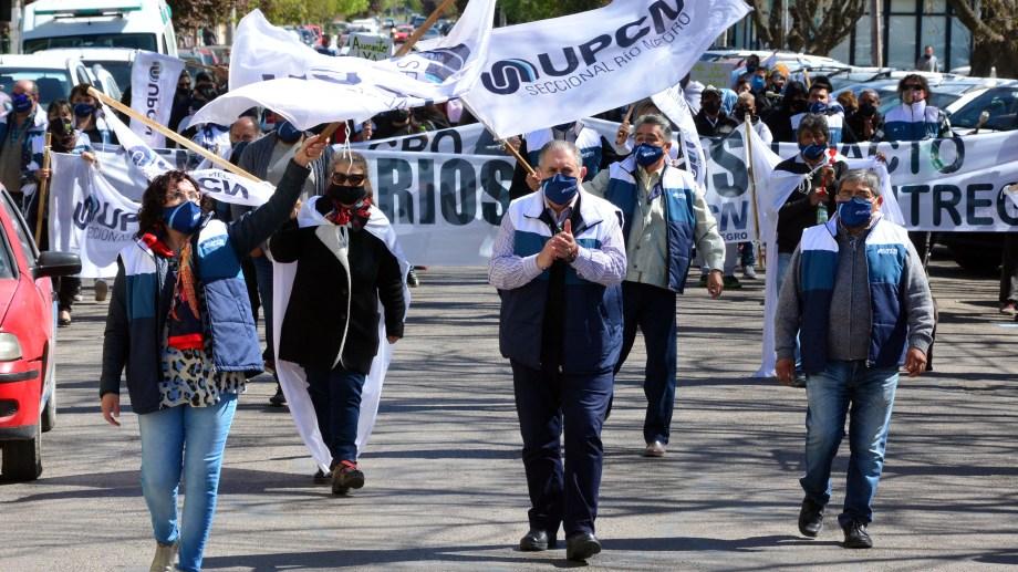 UPCN volverá a las calles en Río Negro. Foto: Marcelo Ochoa.