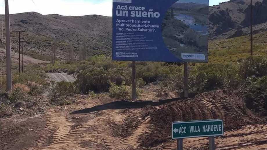El 3 de junio se firmó el convenio para la construcción de la represa con la empresa Rovella Carranza (Asamblea del Agua del Norte Neuquino)