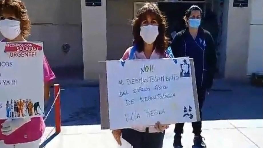 Trabajadores del servicio de neonatología no quieren el trasladado a otro sector dentro del hospital de Regina.