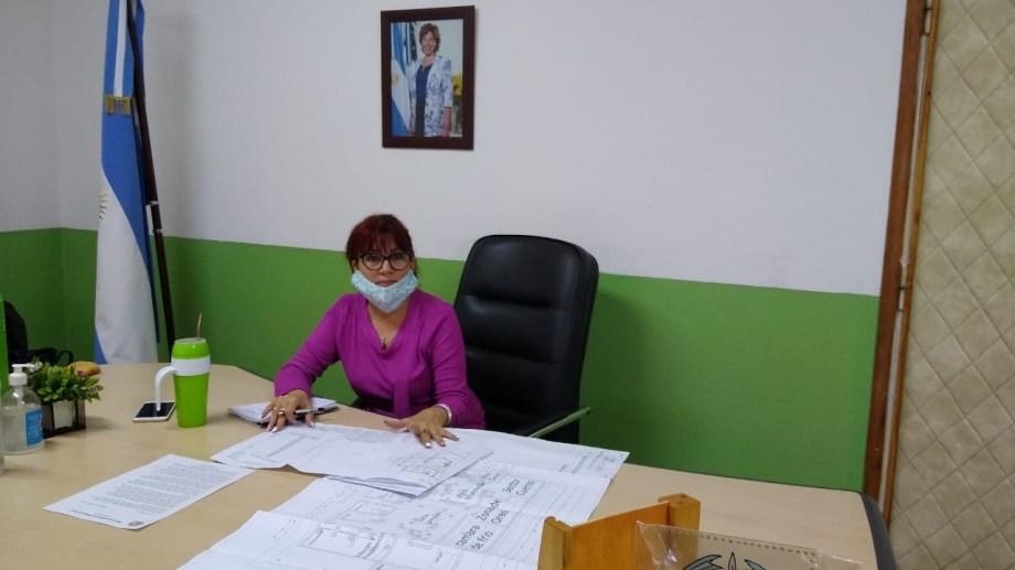 La intendente Silvina Frías (JSRN) adelantó la promulgación del a ordenanza. Foto: gentileza.