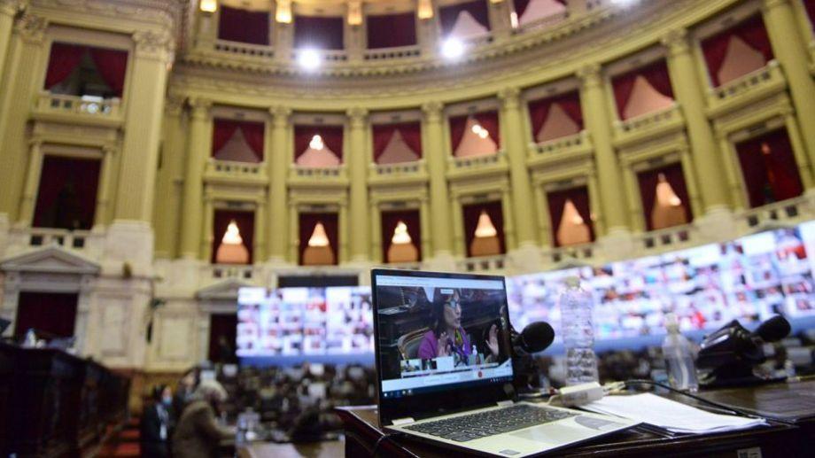 La sesión en la que se había aprobado en primera instancia el Presupuesto 2021 en Diputados.