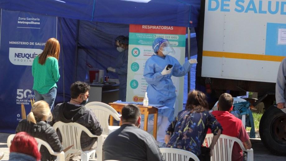 Los trailers de testeos, una de las medidas para detener la propagación del virus. Foto: Oscar Livera