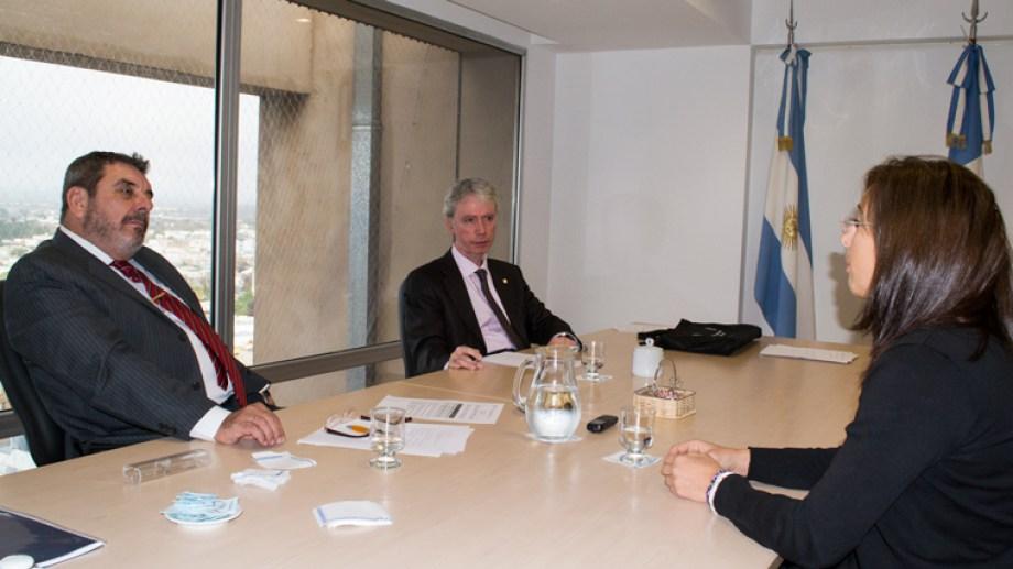 Dardo Walter Troncoso, a la izquierda, como jurado en un concurso del Consejo de la Magistratura.