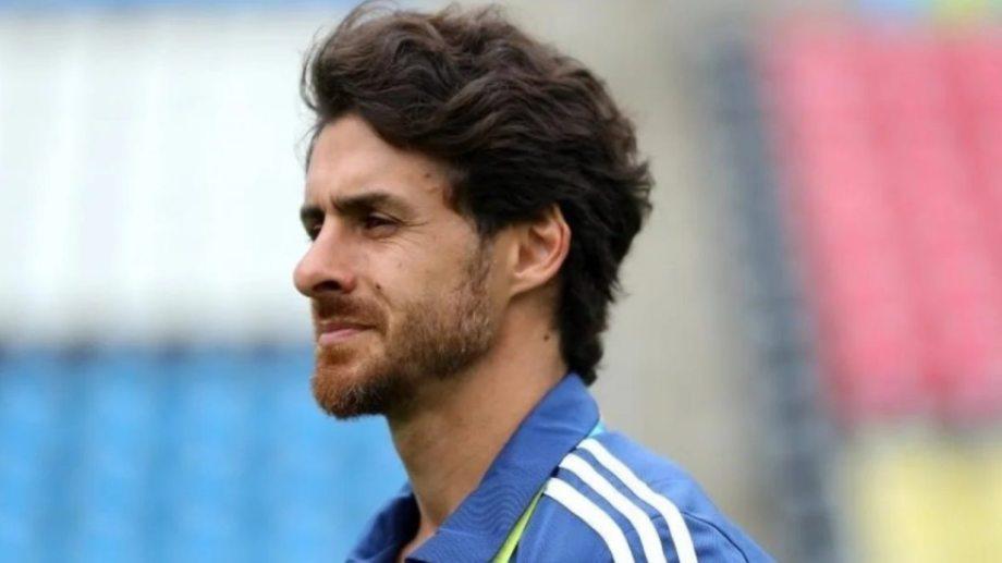 Pablo Aimar es ayudante de campo de Scaloni en la selección.