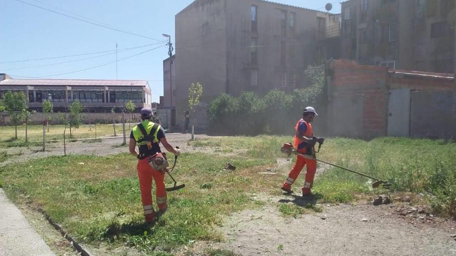 Los trabajos se intensifican en varios barrios y en los accesos a la ciudad.