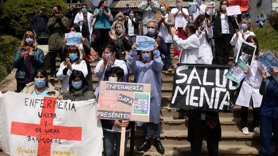 Los trabajadores de la salud de Río Negro mantiene su reclamo por mejores salarios. Archivo