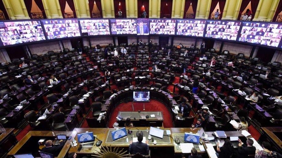 La sesión de Diputados le dio media sanción al proyecto de Aporte Solidario de las Grandes Fortunas. Foto: gentileza @DiputadosAR