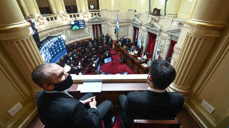Guzmán asistió al Senado mientras se debate el presupuesto 2021. (Gentileza).-