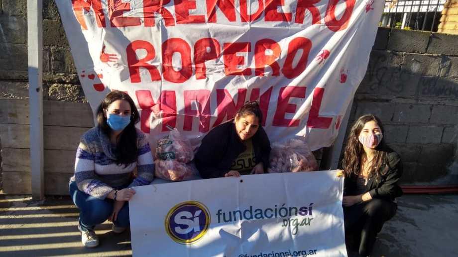 Integrantes de la Fundación Sí de Viedma recolectarán alimentos para los merenderos de Viedma y Patagones. Foto Gentileza