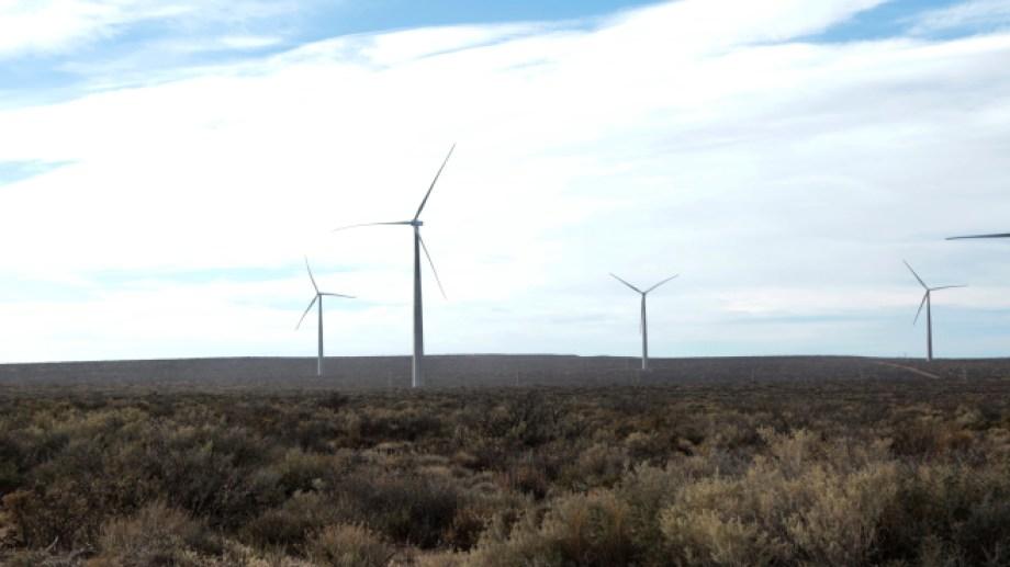 El parque eólico de Neuquén, Vientos Neuquinos I, es uno de los que aportó a la meta alcanzada en octubre. (Foto: gentileza)