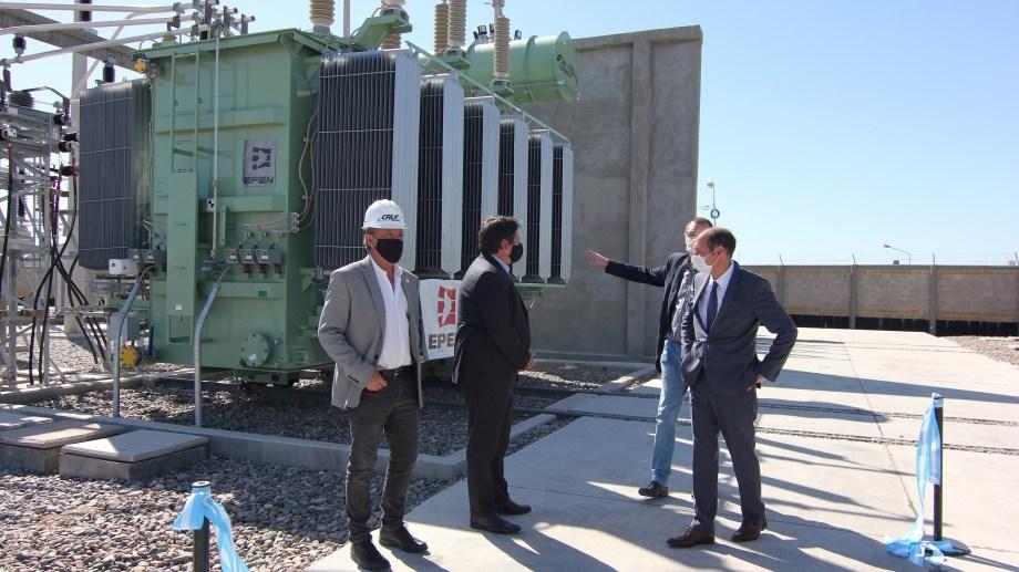 Ciapponi, presidente de la cooperativa CALF esta semana en la inauguración de la planta transformadora  CALF EPEN en barrio Copol (archivo Oscar Livera)