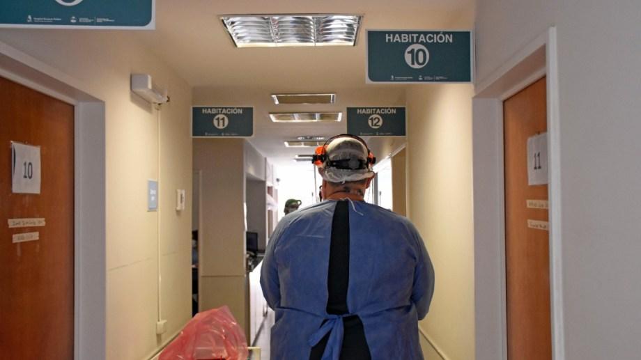El sector covid del hospital Bouquet Roldán. Foto: Florencia Salto