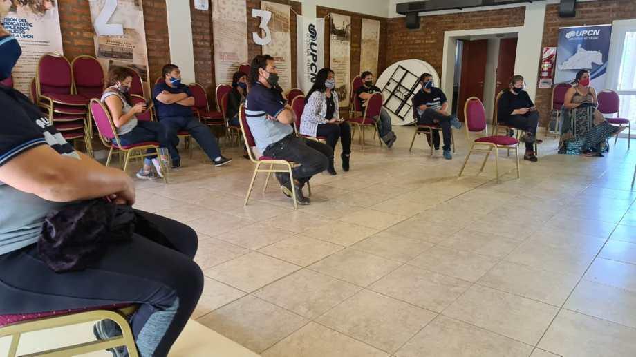 La reunión se realizó en la sede del gremio ubicada en la calle Alem de la capital provincial. Foto: gentileza.