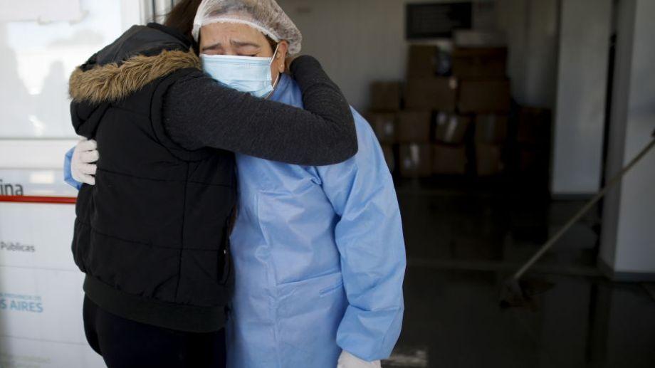 Área Covid-19 del hospital del Mar del Plata. Foto: Natacha Pisarenko para AP.-