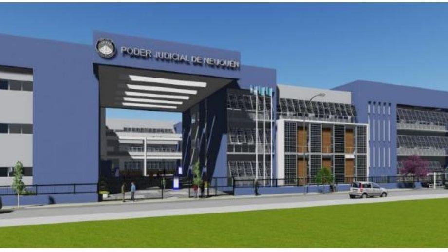 El frente del edificio, según el proyecto elaborado por el Tribunal Superior. (Gentileza)