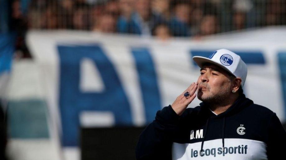 La última actividad pública de Maradona fue dirigiendo Gimnasia. Foto: gentileza