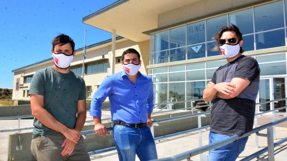 Ramiro Figueroa, Luciano Nacci y Pablo Degliantoni parte de los organizadores de esta propuesta. Foto: Marcelo Ochoa.