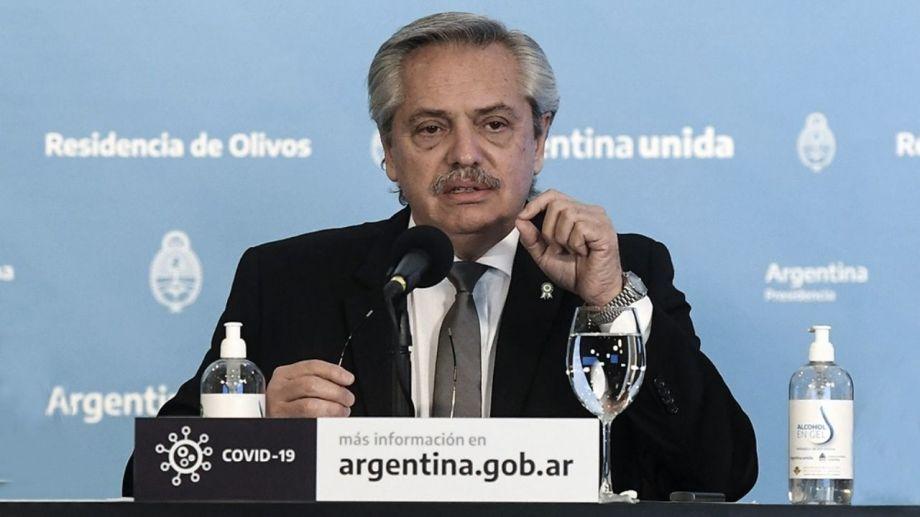 El presidente Alberto Fernández aseguró que en marzo se aplicarán las vacunas que se fabricarán en el país.