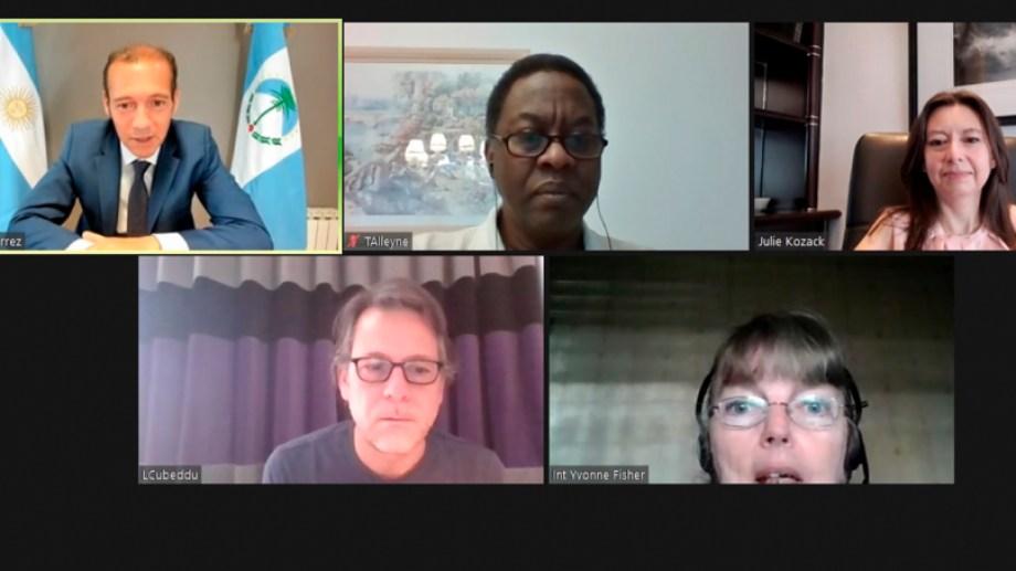 La reunión de Gutiérrez con los integrantes del FMI se realizó por videollamada.