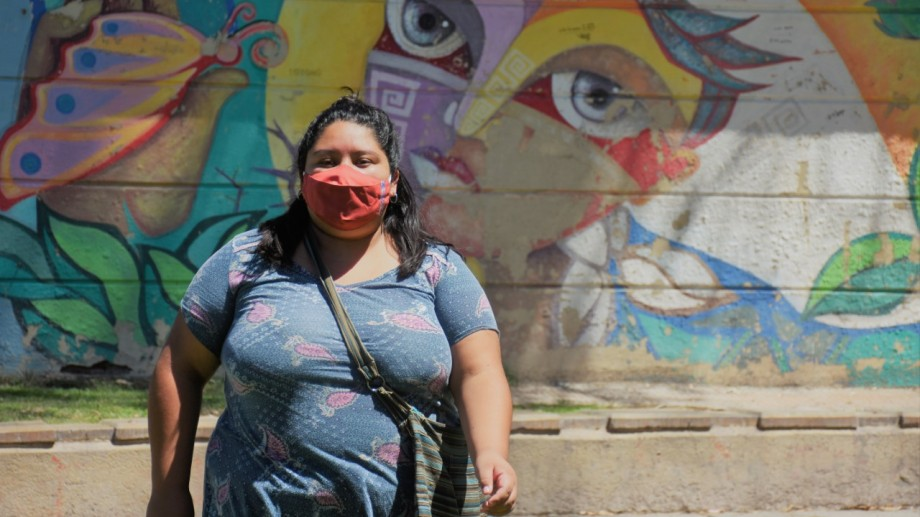 Katy Manquilef, integrante de la Campaña por la Emergencia Nacional en Violencia Contra las Mujeres en Roca.